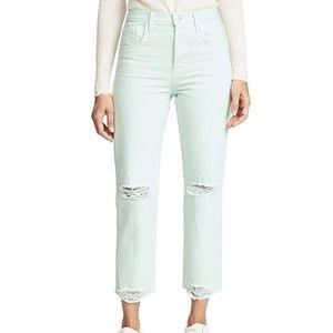 J Brand Wynne Cropped Straight-Leg Jeans